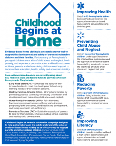 Cover Image: Report and State & County Fact Sheets: Childhood Begins at Home (Home Visiting) – April 2018