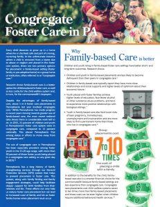 Cover Image: Report: Congregate Foster Care in PA – 2016