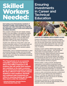 Cover Image: Report: Skilled Workers Needed: Investing in Career and Technical Education – January 2019