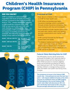 Cover Image: Fact Sheet: Children's Health Insurance Program (CHIP) in PA – April 2019