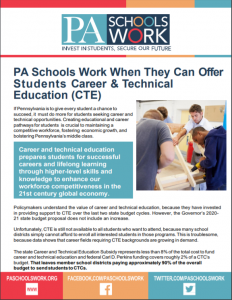 Cover Image: Fact Sheet: PA Schools Work: Career and Technical Education (CTE) – March 2020