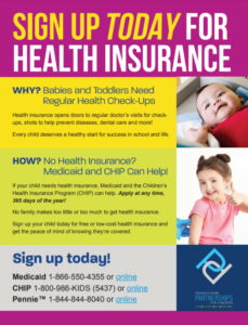 Cover Image: Flyer: Signing Up for Health Insurance for Your Baby or Toddler – March 2021