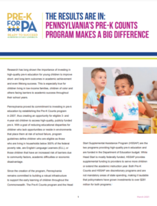 Cover Image: The Results Are In: Pennsylvania's Pre-K Counts Program Makes a Big Difference – March 2021