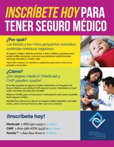 Cover Image: Flyer: Inscríbite hoy para tener seguro médico – Marzo 2021