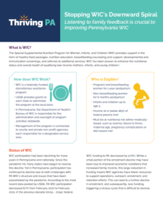 Cover Image: Fact Sheet: Stopping WIC's Downward Spiral – June 2021