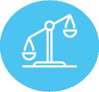 Unbalanced scale icon