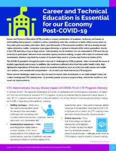 Cover Image: Fact Sheet: Career and Technical Education is Essential for our Economy Post-COVID-19 – October 2021